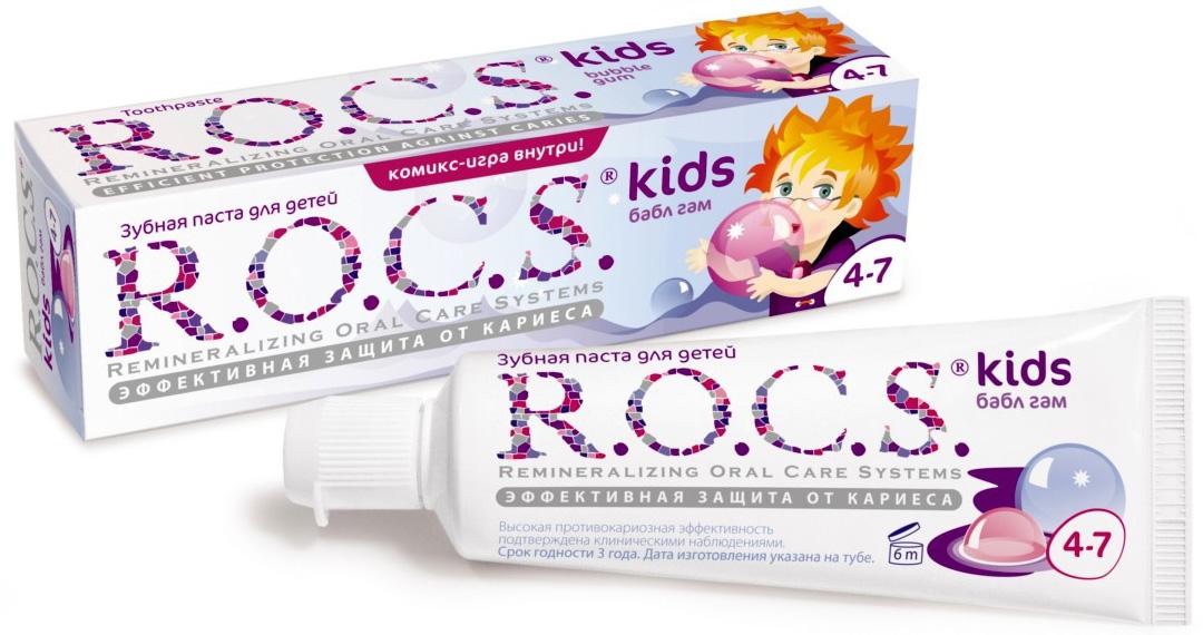 Зубные щетки и пасты R.O.C.S. Бабл Гам с 4 лет