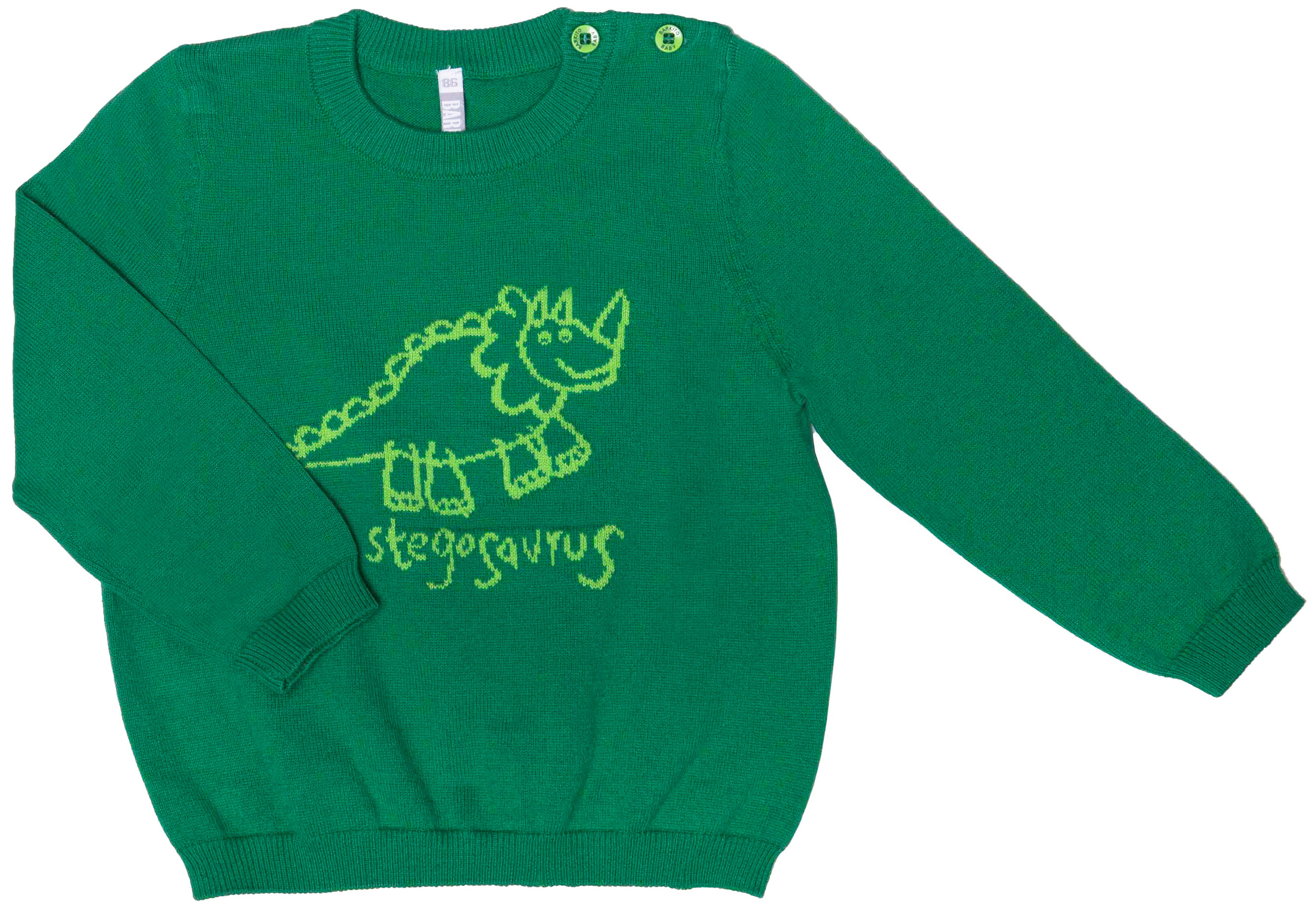 Свитер для мальчика Barkito Веселый динозавр 1 зеленый