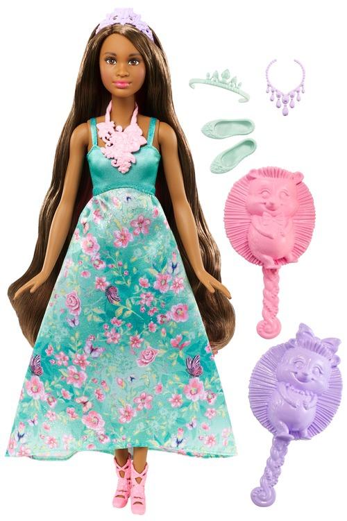 Barbie Barbie Принцесса с волшебными волосами кукла с длинными волосами блондинка barbie fxc80