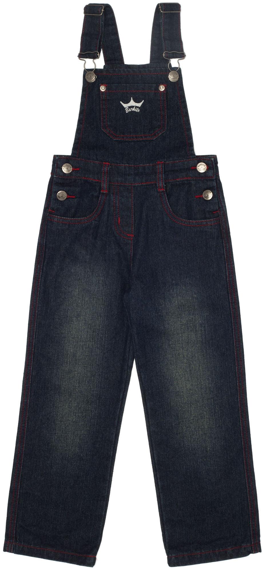 Полукомбинезоны Barkito Полукомбинезон джинсовый для девочки Рок-н-ролл Barkito синий полукомбинезоны для новоржденных