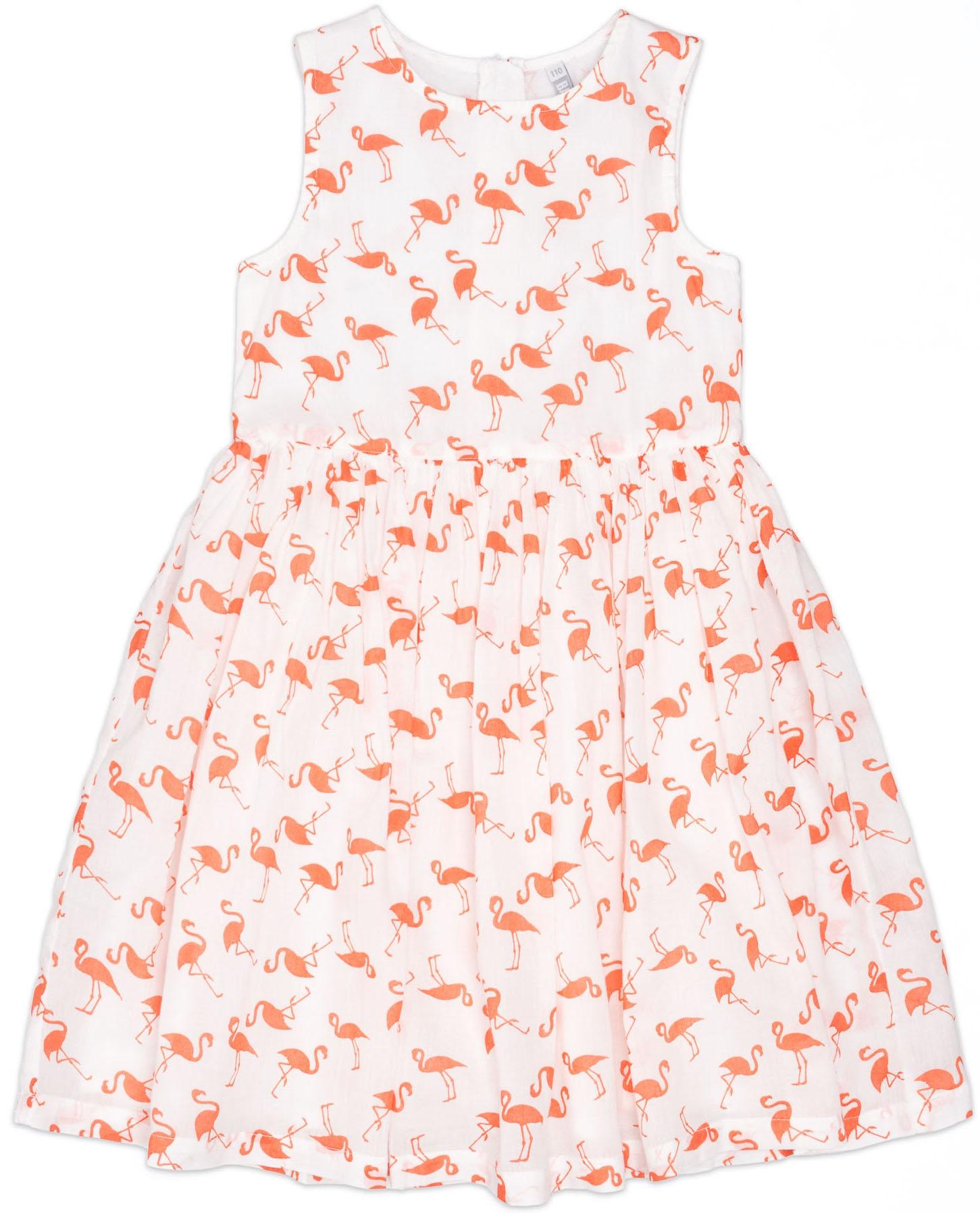 Платья Barkito Платье без рукавов Barkito, Фламинго, белое perlitta perlitta платье белое