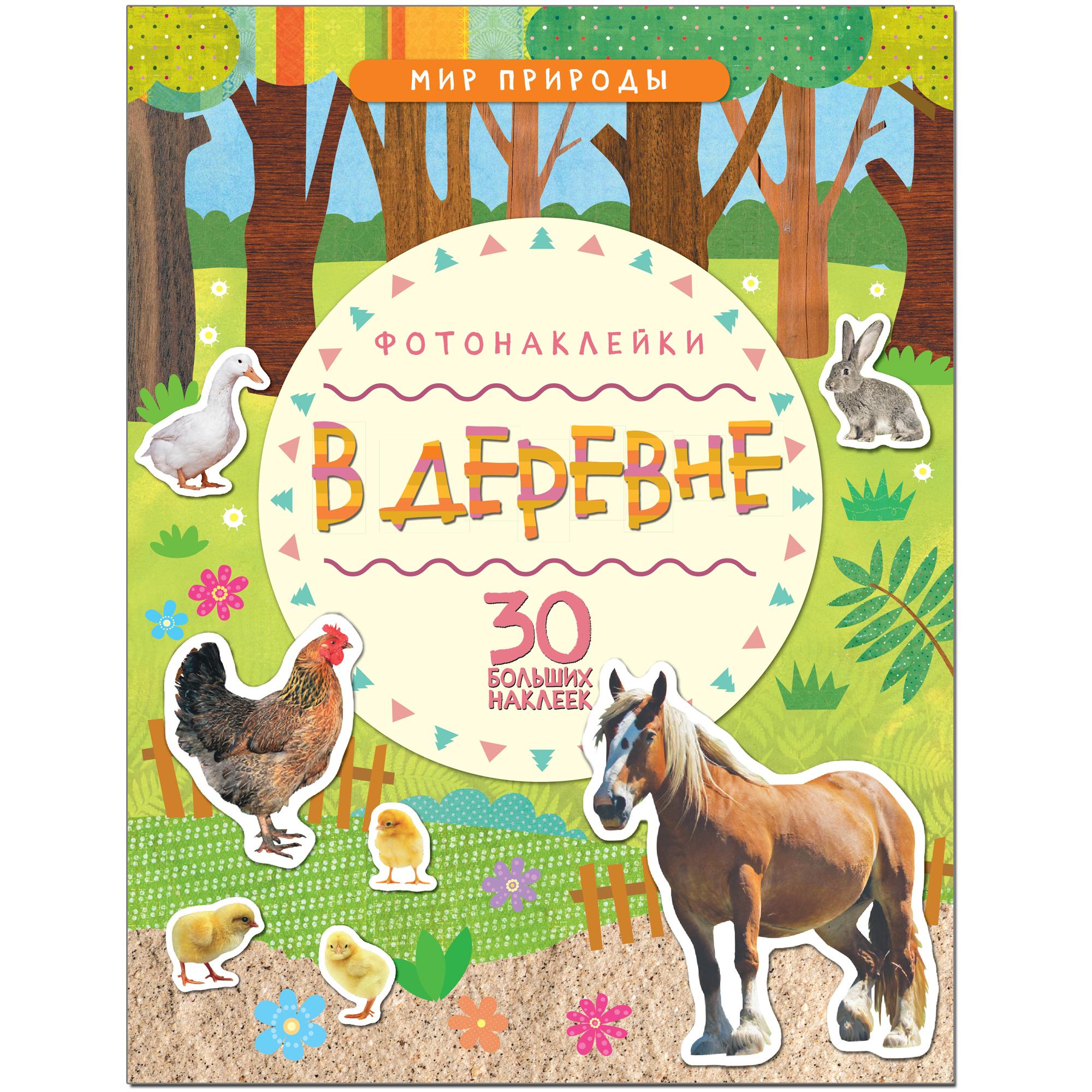 Книга с наклейками Мозаика-Синтез Мир природы В деревне