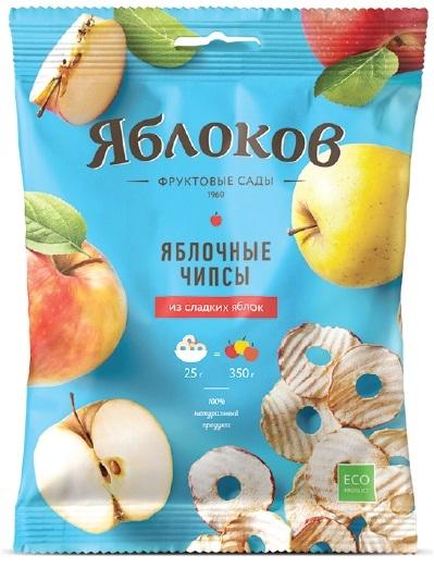 Фруктовые чипсы Яблоков Яблоков из сладких яблок 25 г