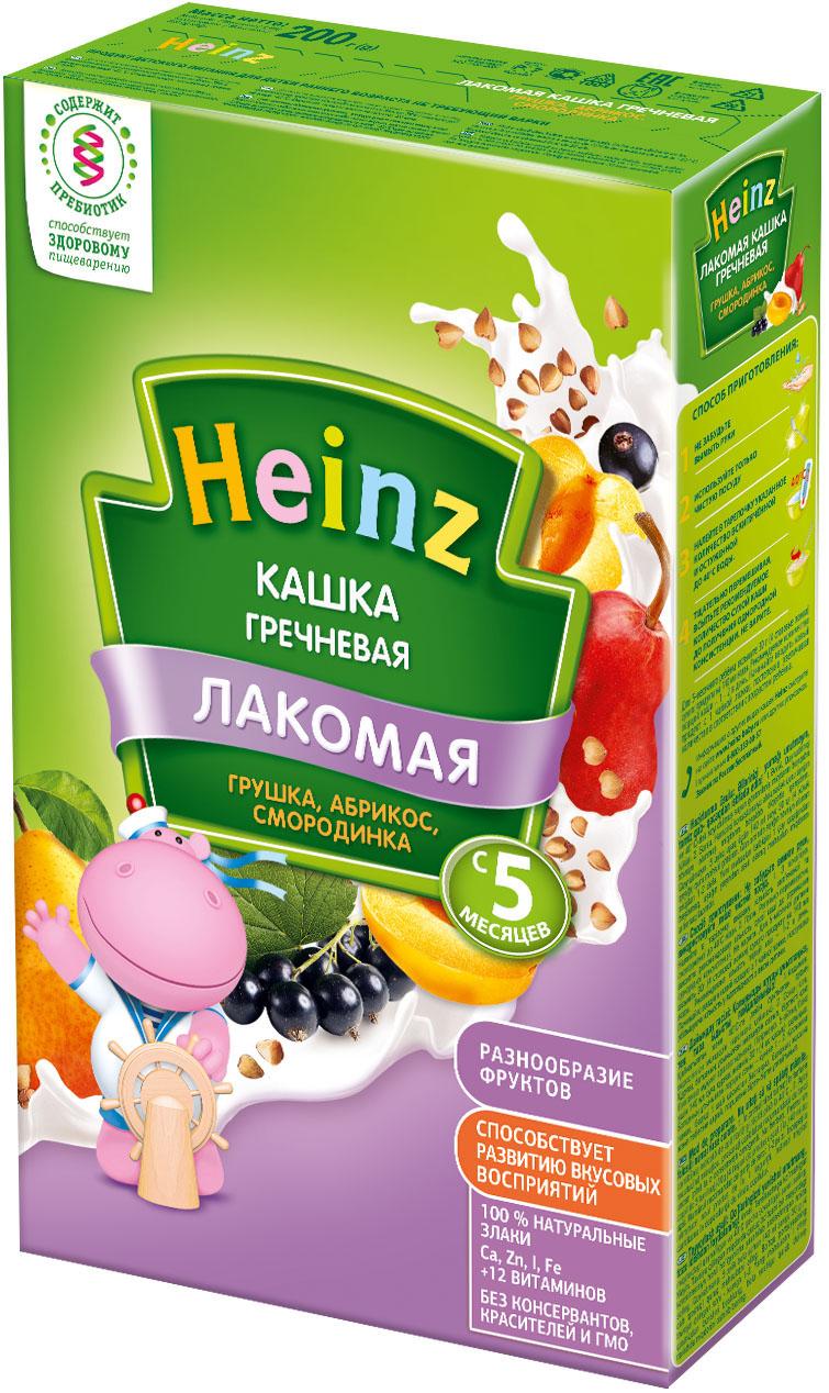 Каши Heinz Heinz Лакомая молочная гречневая грушка, абрикос, смородинка (с 5 месяцев) 200 г молочная продукция беллакт молоко стерилизованное с витаминами а с 2 5% 8 мес 200 мл