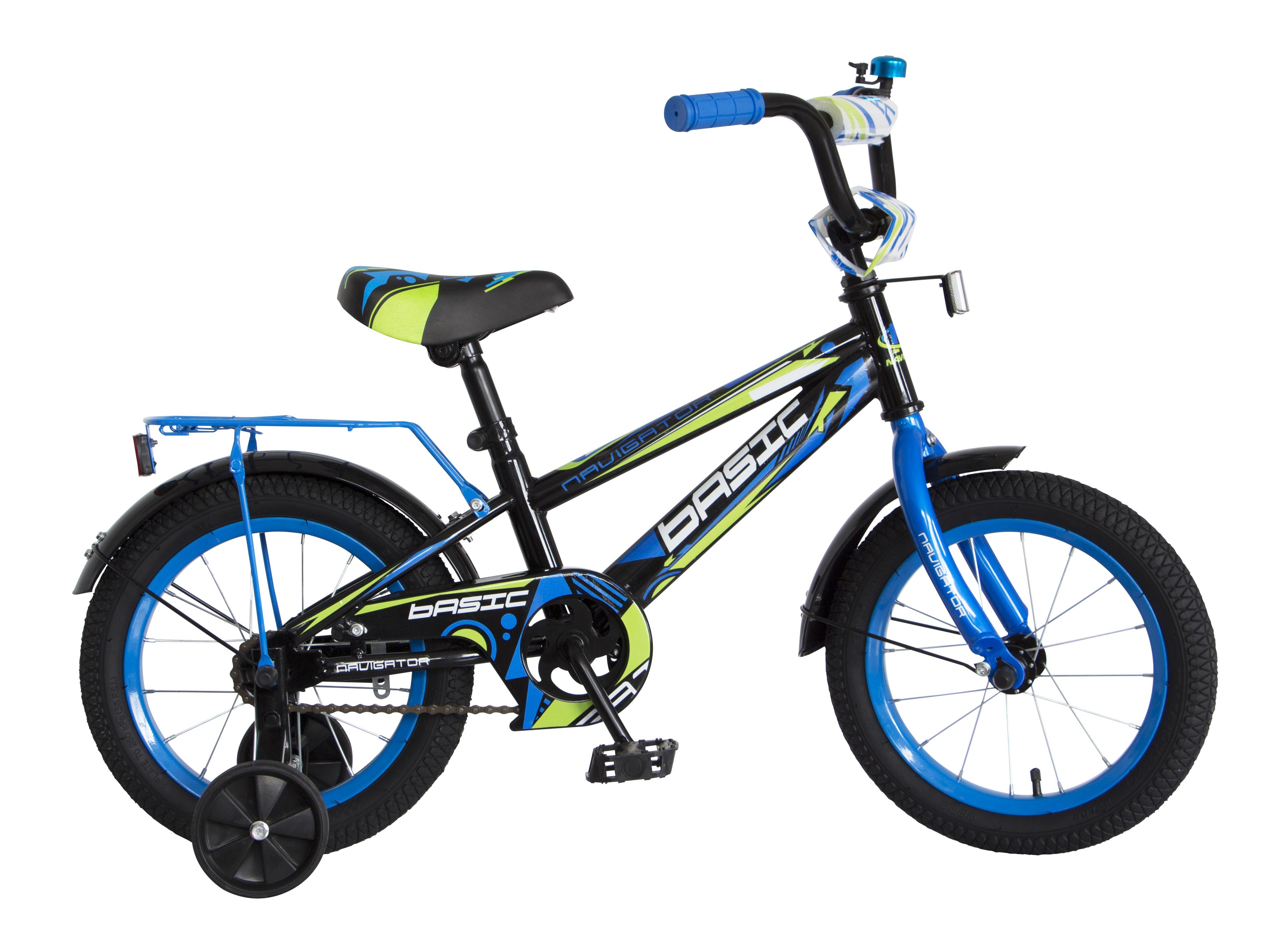 Велосипед двухколесный Navigator Basic 14 черный с синим