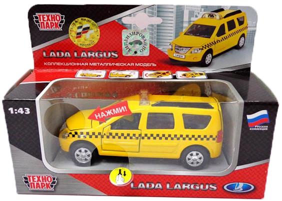 Купить Машинки и мотоциклы, Lada Ларгус - Такси 1:32, Технопарк, Китай, желтый, черный, Мужской