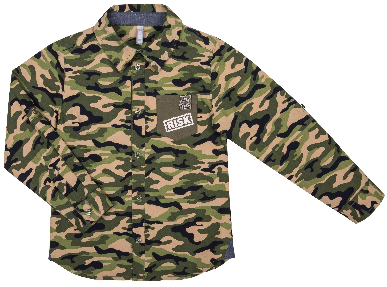 Купить Рубашки, Хаки, Barkito, Китай, хаки, 100% хлопок, Мужской
