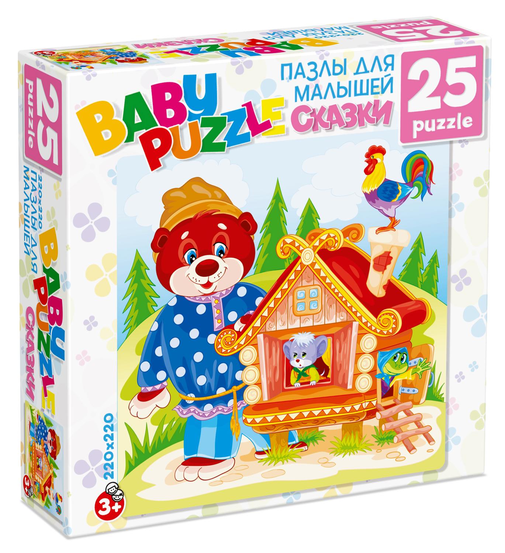 Пазлы Origami Пазл Origami «Для малышей: Теремок» 25 эл. пазл clementoni trittico 3х500 эл легенды нью йорка 39305