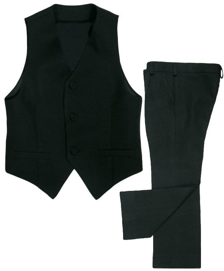 Костюм Barkito для мальчика, черный костюм веста одежда повседневная на каждый день