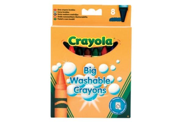 Ручки и карандаши Crayola Мелки восковые Crayola смываемые большие 8 шт. crayola восковые мелки 8 шт crayola