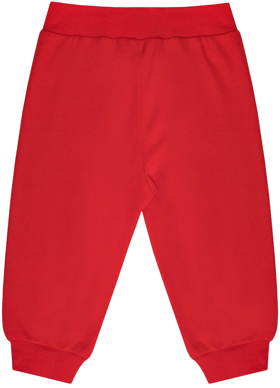 Брюки трикотажные Barkito Дедушка Мороз, красные недорго, оригинальная цена