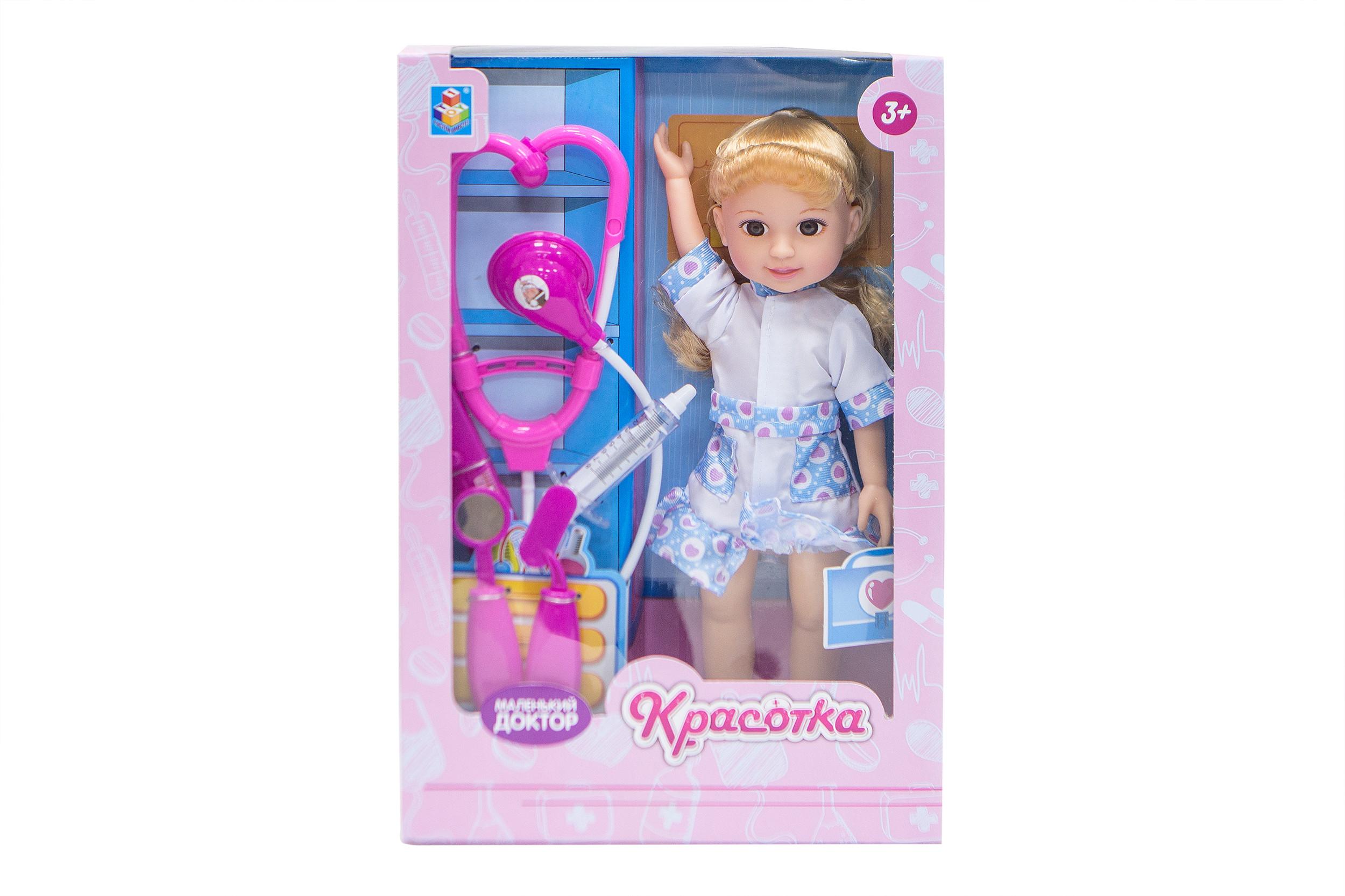 Классические куклы 1toy Кукла 1Toy «Красотка. Маленький Доктор» блондинка с аксесс. 1toy красотка белый