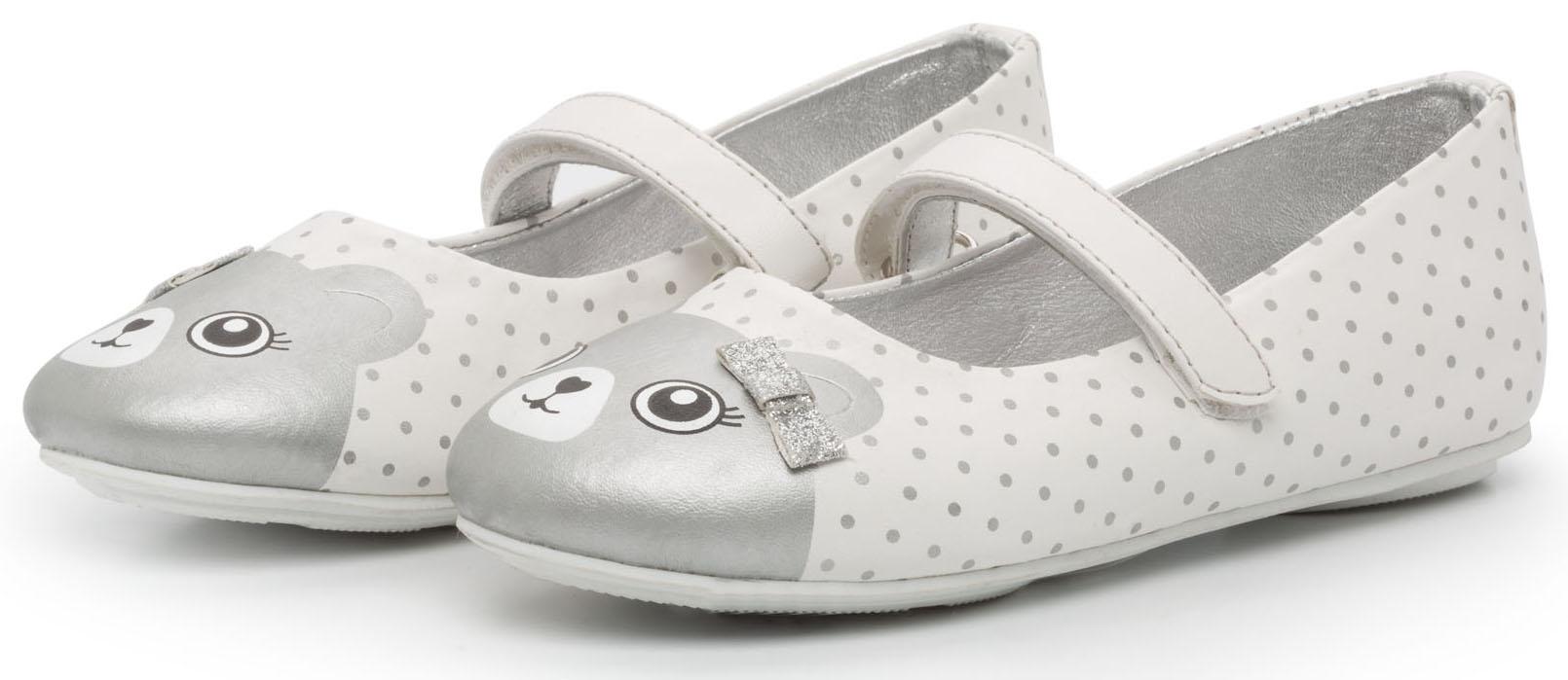 Туфли Barkito Туфли для девочки Barkito, белые с серебряной отделкой кан длинные тренды корейский досуг студент спортивные белые туфли черный белый 283112008 39 метров
