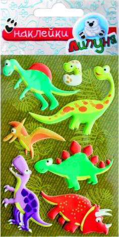 Наклейки Липуня Наклейки Липуня «Динозавры 2» зефирные динозавры наклейки