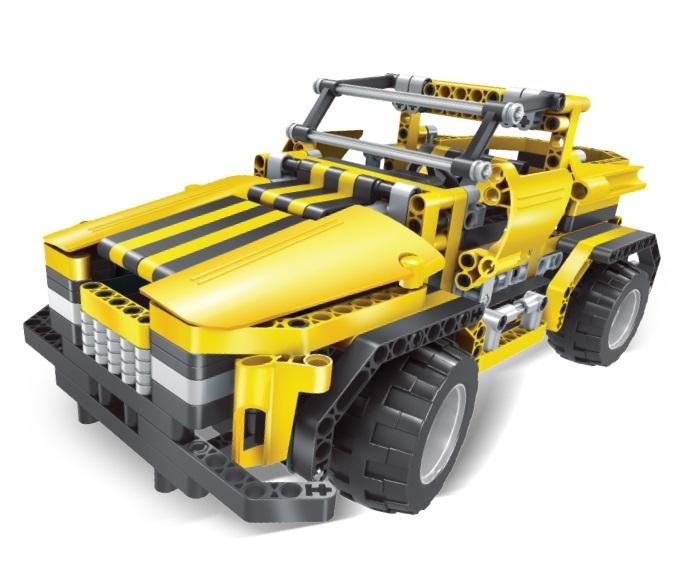 Автомобиль-конструктор р/у 2 в 1 Mioshi Мастер-Вездеход катер р у mioshi прибой x21 21 см