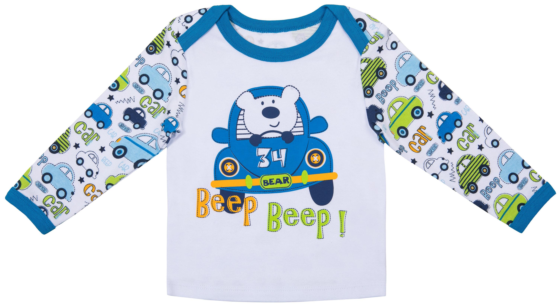 Комплект футболка и ползунки Barkito Автомобили брюки джинсы и штанишки ёмаё ползунки для мальчика ватсон 26 290