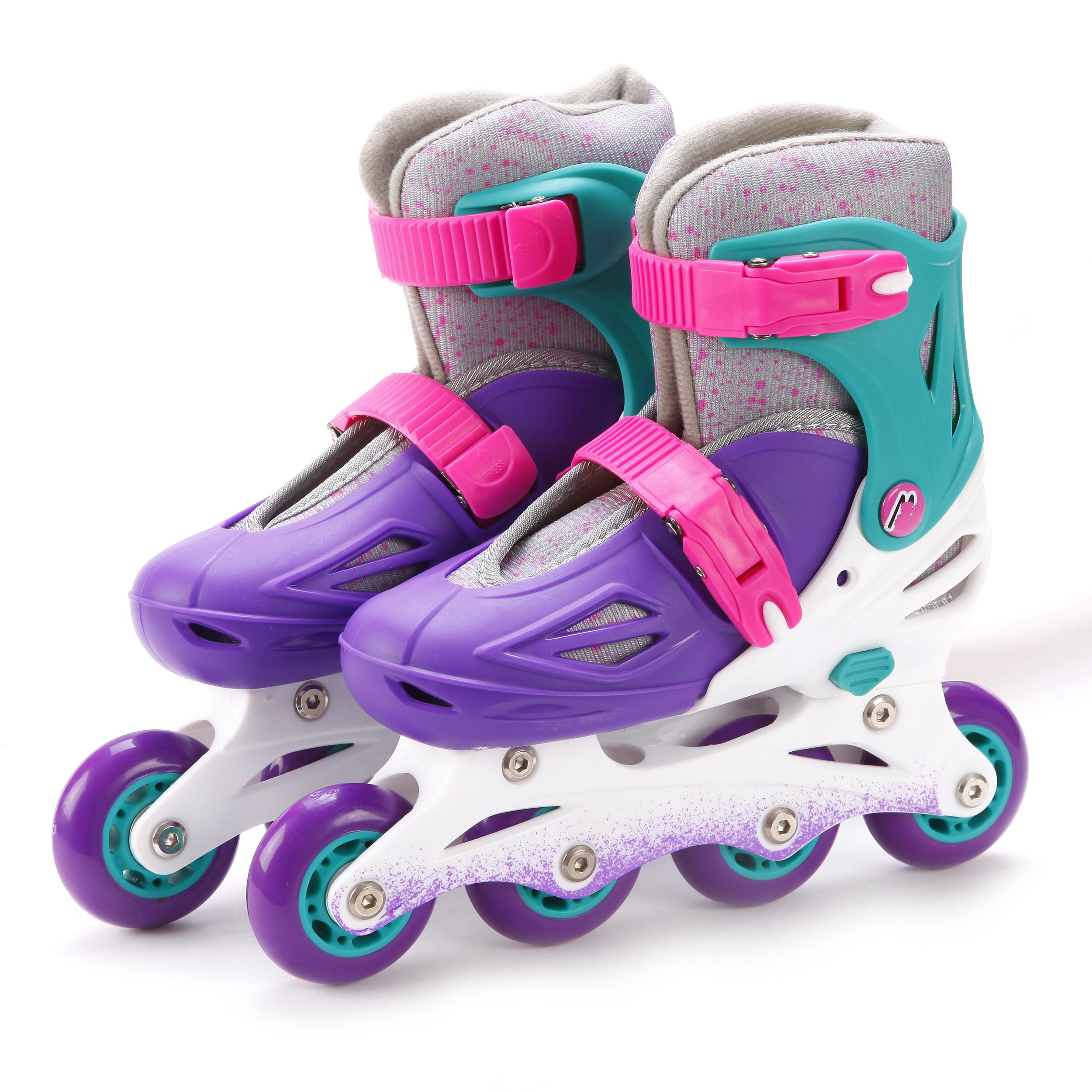 Ролики и скейтборды Moby Kids Коньки роликовые Moby Kids (30-33) раздвижные фиолетовые роликовые коньки cliff csp 168d3 l blue