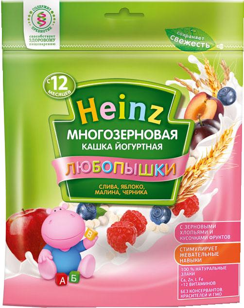 Каша Heinz Heinz Любопышки молочная многозерновая йогуртная слива, яблоко, малина, черника (с 12 месяцев) 200 г heinz каша многозерновая из пяти злаков с 6 месяцев 200 г
