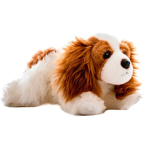 Купить Мягкие игрушки, Кинг-Чарльз спаниель 28 см, Aurora, Индонезия, белый с коричневым
