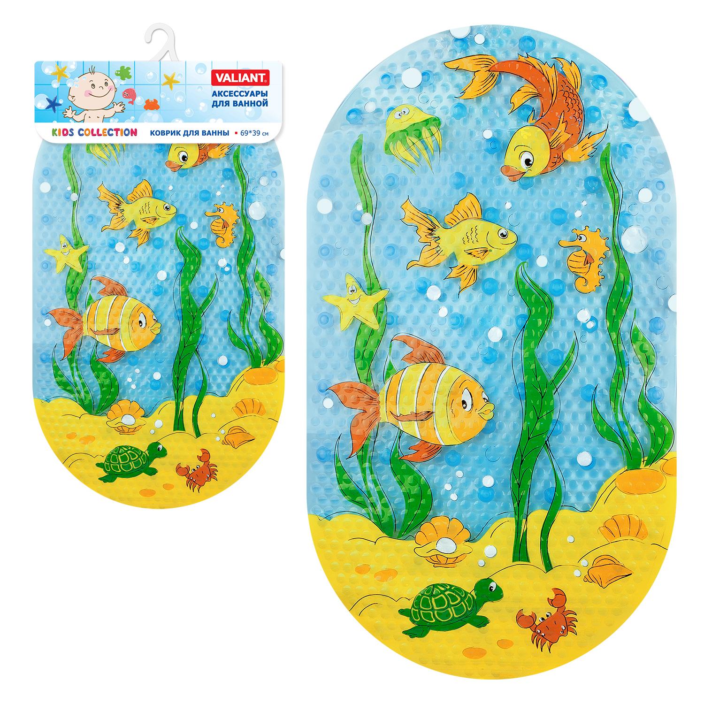 Коврики и круги Valiant Подводный мир 69х39 см коврик для ванны uviton пляж 69х39 см в ассортименте