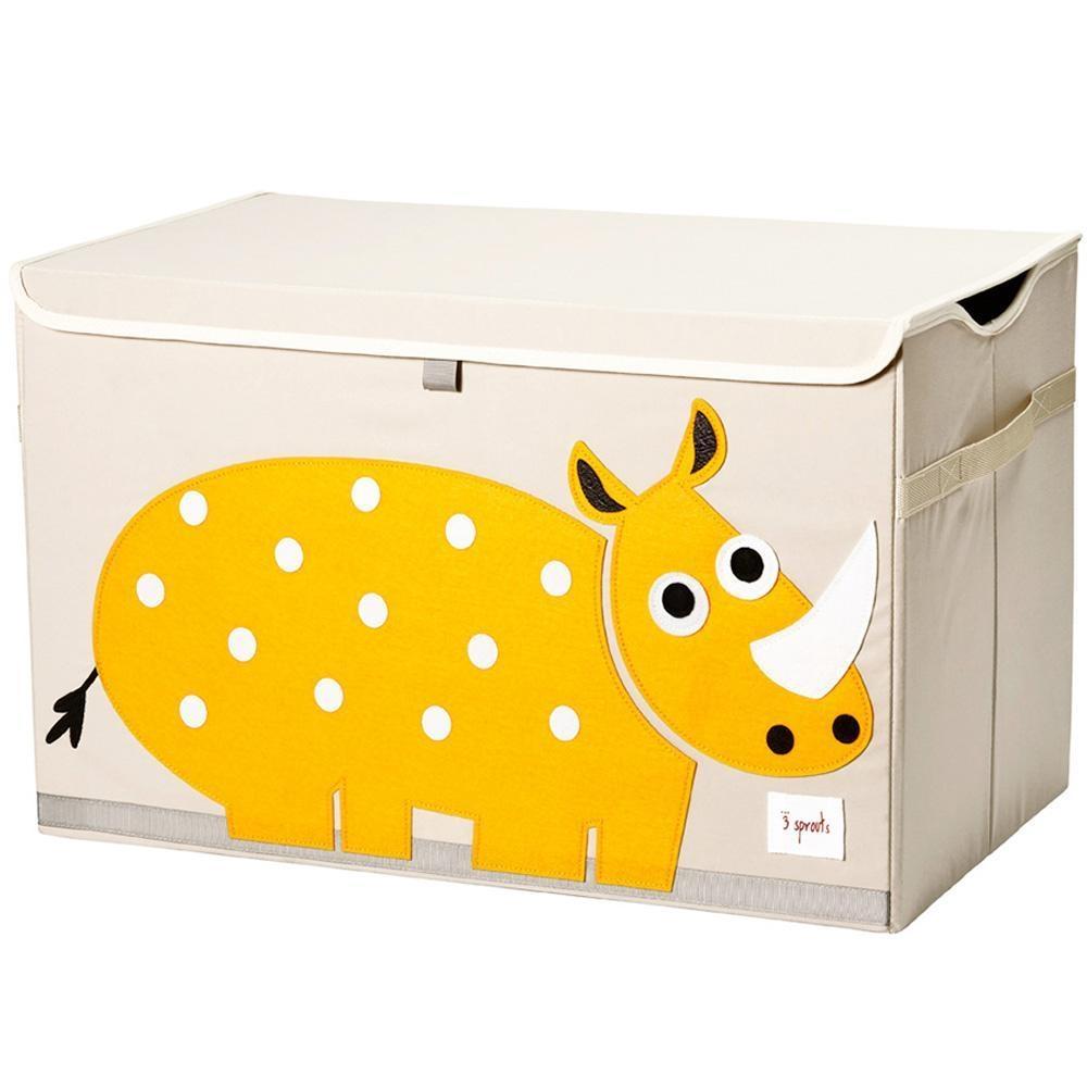 Ящики и корзины для игрушек 3 Sprouts Yellow Rhino сундук большой 2557l