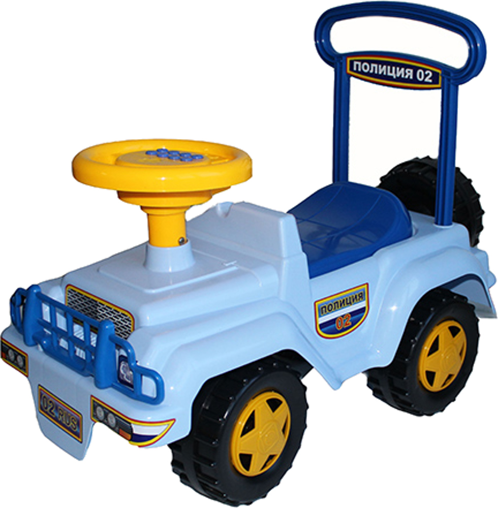 Машинки-каталки и ходунки Спектр Полиция с музыкальным рулем машинки каталки и ходунки спектр гонка