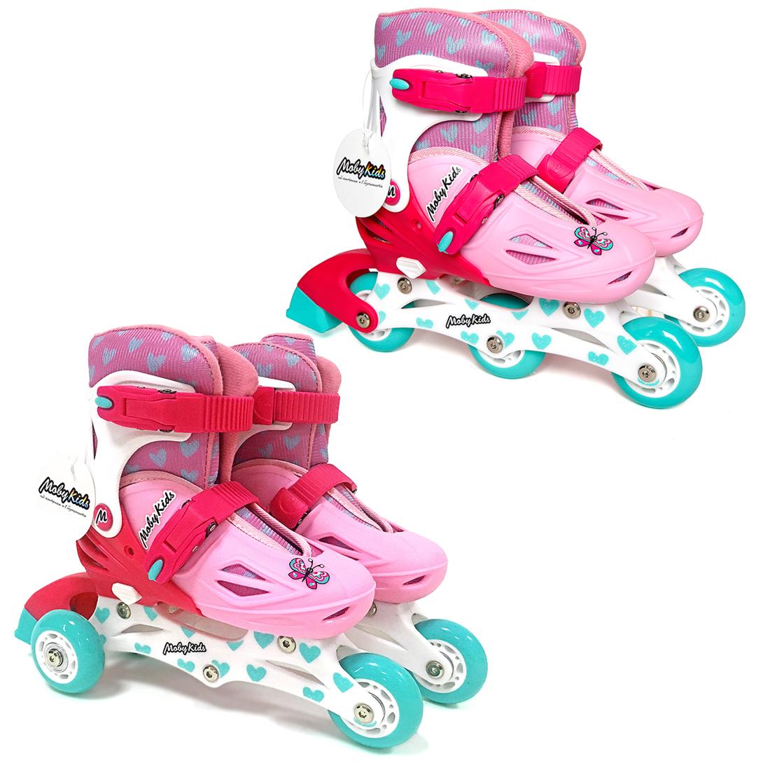 Роликовые коньки Moby Kids 641001 ролики и скейтборды moby kids коньки роликовые moby kids 26 29 раздвижные фиолетовые