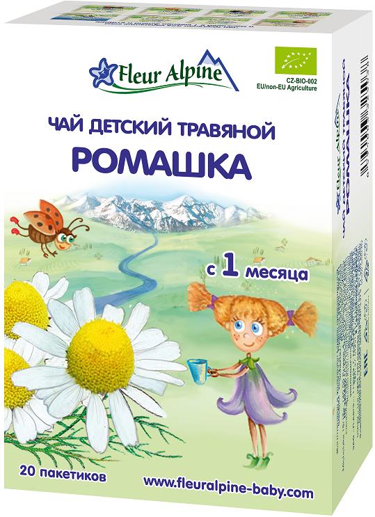 Чай детский Fleur Alpine Organic Ромашка с 1 мес. 30 г. чай детский fleur alpine альпийский вечер 20 пак