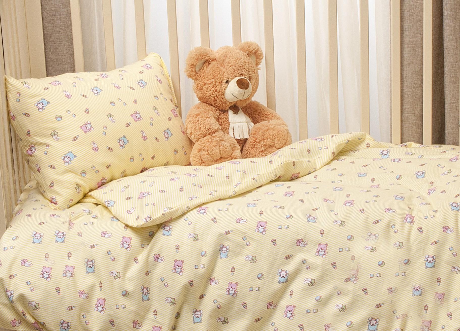 Постельные принадлежности Kupu-Kupu Комплект постельного белья Li-Ly фланель 3 пр. желтый li ly простынь на резинке 2шт дет li ly ptr 60 2 6
