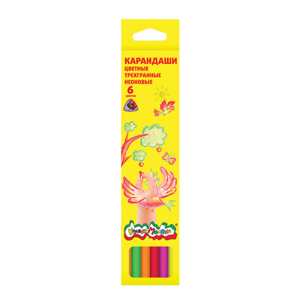 Ручки и карандаши Каляка-Маляка Набор цветных карандашей Каляка-Маляка 6 цв. ручки и карандаши каляка маляка карандаши пластиковые каляка маляка 12 цветов
