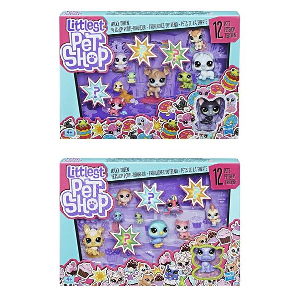 Игровой набор LITTLEST PET SHOP «12 счастливых петов» игровой набор 2 космических пета little pet shop e2128