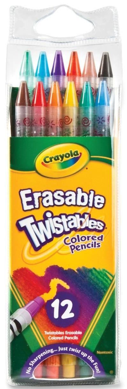 Ручки и карандаши Crayola Стирающиеся с ластиком 12 цветов ручки и карандаши crayola карандаши цветные crayola 12 шт