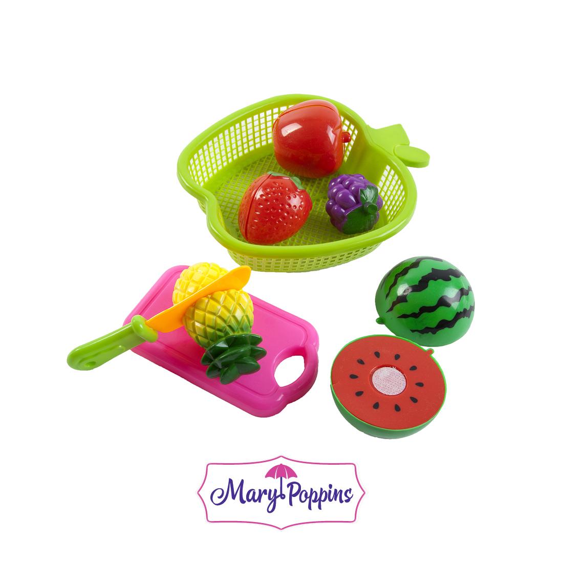 Купить Игровой набор для резки, фрукты в яблоке, 1шт., Mary Poppins 453046, Китай, Мультиколор