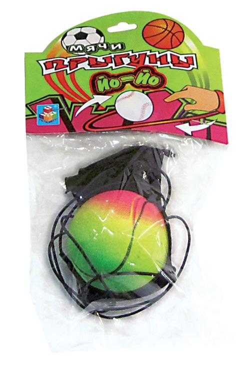 Мячи 1toy Мяч-прыгун 1TOY «Йо-Йо» спорт мультиколор 5,5 см 1toy раскраска