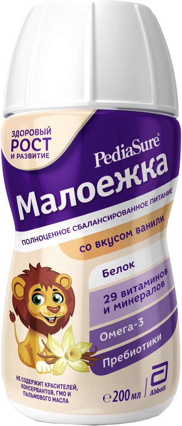 все цены на Молочная смесь PediaSure Малоежка Pediasure (Abbott) Малоежка со вкусом ванили (от 1 года до 10 лет) 200 мл онлайн
