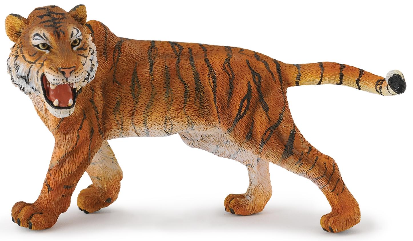 Купить Фигурки животных, Сибирский тигр 12 см, Collecta, Китай, рыжий