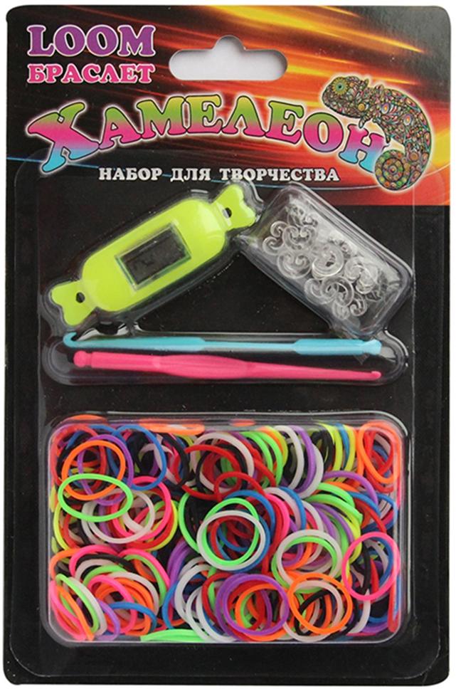 Украшения LOOM Браслет Набор для плетения браслетов Loom bands «Хамелеон» 300 шт. набор для плетения браслетов simple fun loom разноцветные светящиеся 200 шт