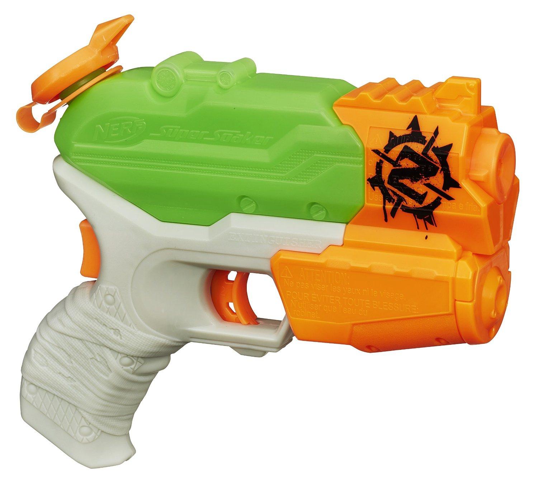Купить Пистолеты и ружья, Супер Сокер Огнетушитель, NERF, Китай, оранжевый, салатовый, серый, Мужской