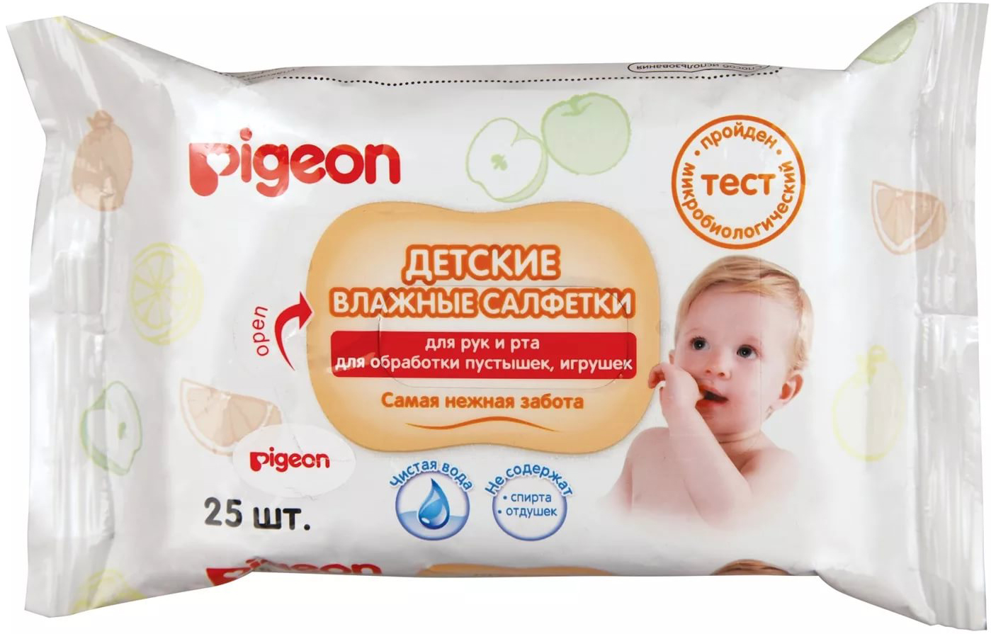 Прокладки и салфетки Pigeon для рук и лица 25 шт. depilica нетканые полоски для эпиляции для лица 3x12 5 см non woven facial strips 100 шт