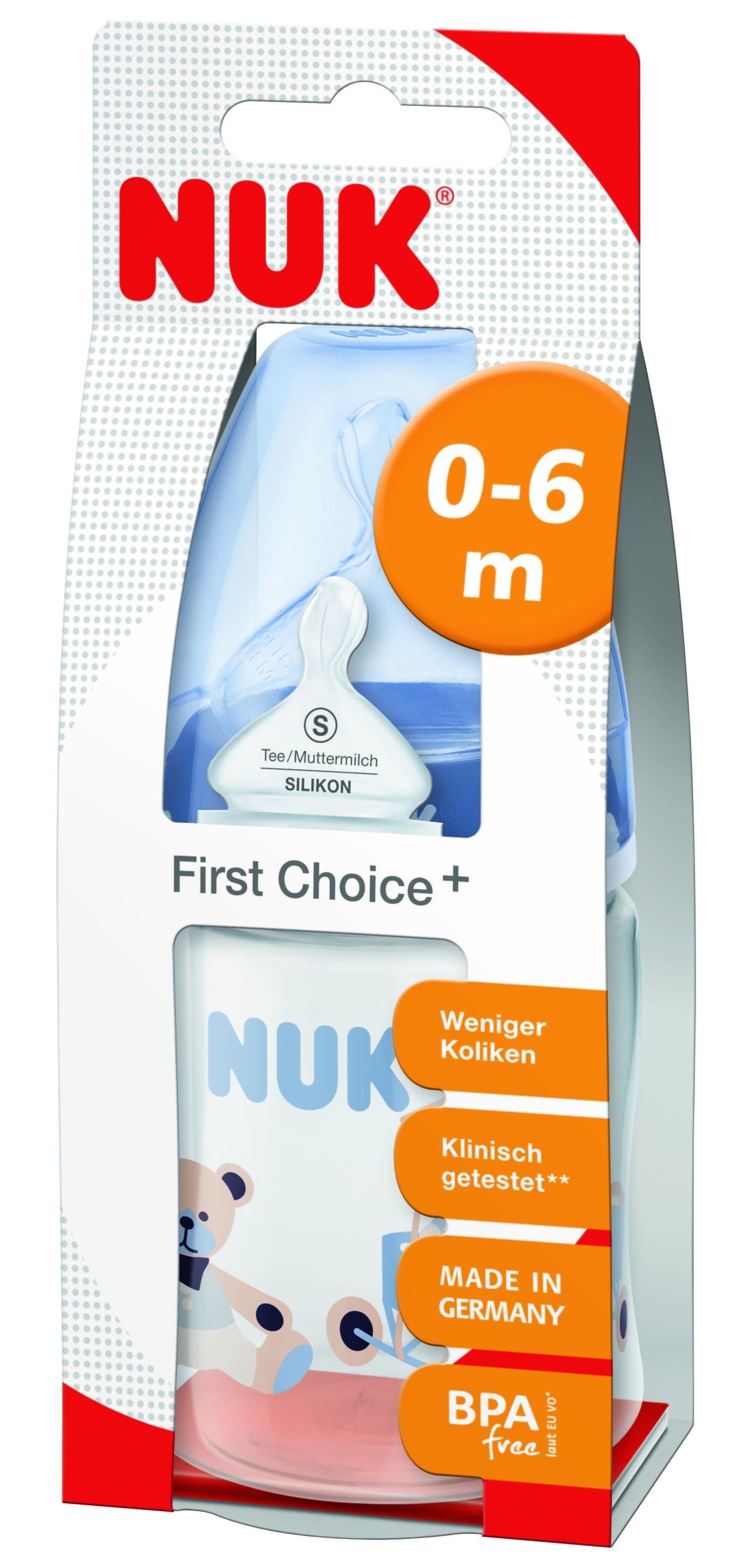 Бутылочка для кормления NUK First Choice Plus с силиконовой соской М 0+, 150 мл. бутылочка для кормления nuk first choice plus с силиконовой соской м 0 150 мл в ассортименте