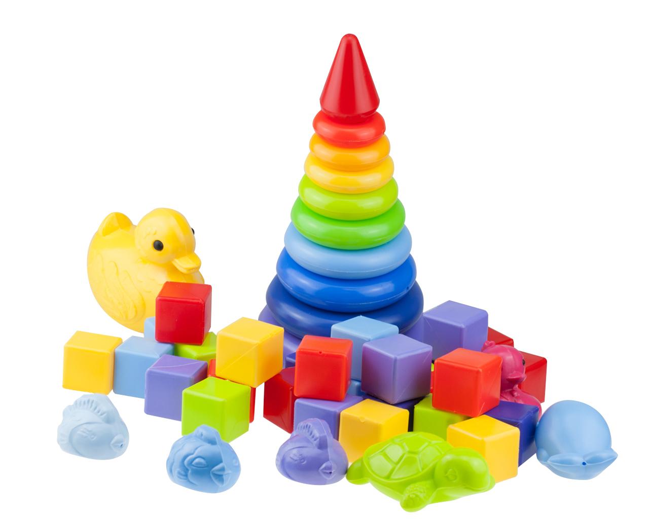 Развивающий набор РосИгрушка Малыш набор игрушек для ванны росигрушка утка и утята
