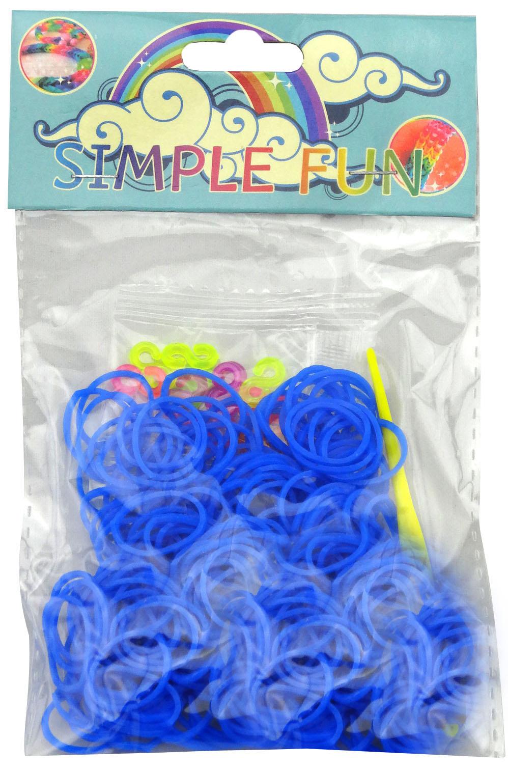 Набор для плетения браслетов Simple Fun 200 шт (одноцв.) набор для плетения браслетов simple fun 200 шт светящиеся в темноте