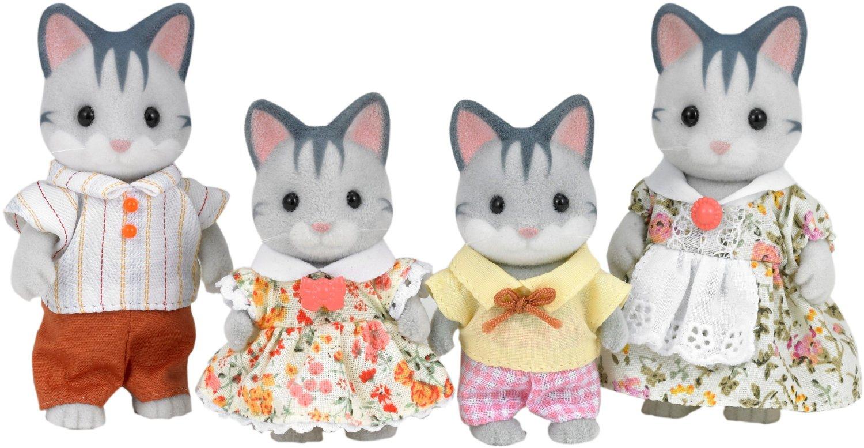 Sylvanian Families SYLVANIAN FAMILIES Семья Серых Кошек игрушка sylvanian families семья персидских котов 3137