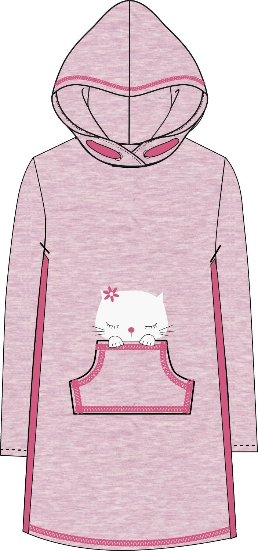 Платья и сарафаны Barkito Платье детское Barkito Мартовские коты, розовое
