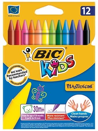 Цветные мелки BIC Пластидекор ручки и карандаши bic эво триенжел