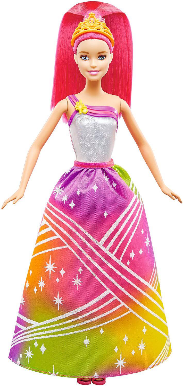 Barbie  Радужная принцесса  волшебными волосами