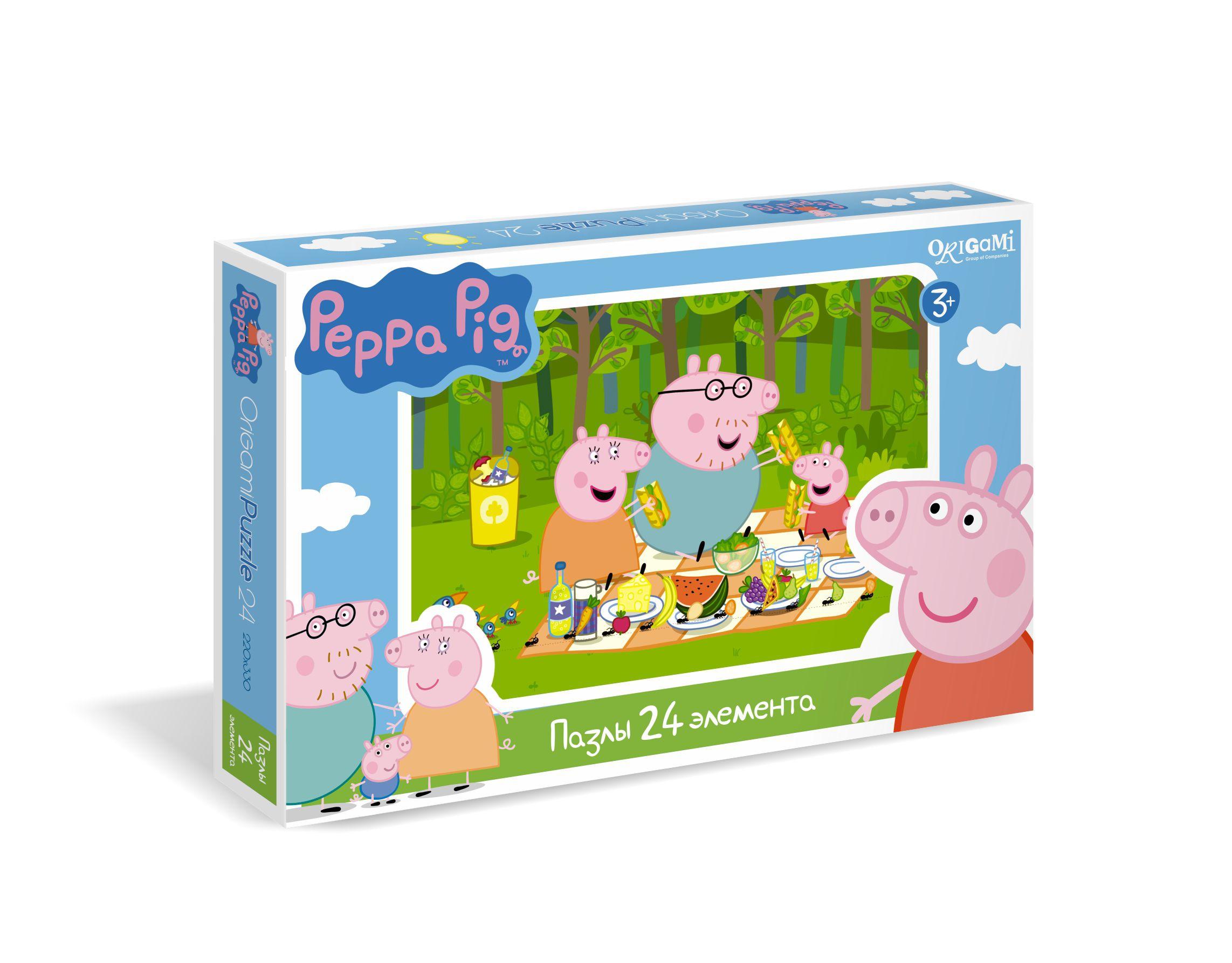 Пазлы Peppa Pig Пикник origami пазл свинка пеппа 25 деталей origami