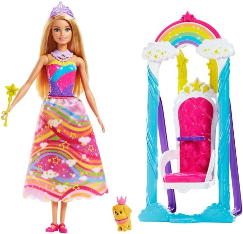 Barbie Barbie Кукла Barbie «Принцесса и радужные качели»