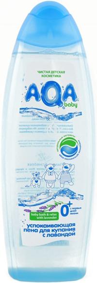 Пена успокаивающая AQA baby с лавандой с рождения 500 мл гель aqa baby с дозатором 300 мл