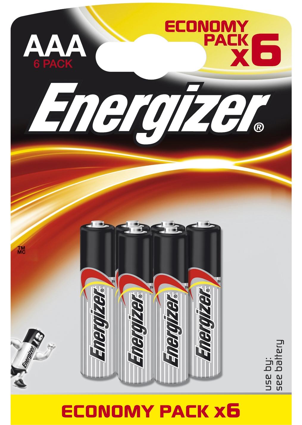 Элементы питания Energizer Батарейка Energizer Alkaline Power AAA/LR03 FSB6 6 шт. батарейка energizer base aaa multi blister 20 шт